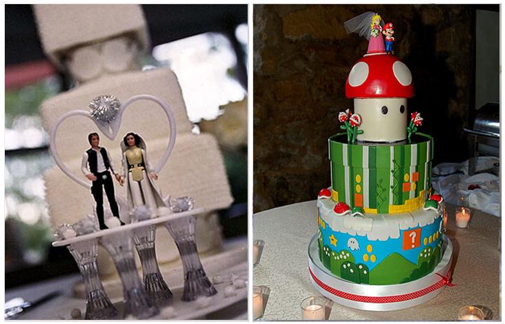 Como hemos dicho antes la tarta tiene que ser personal, ¿y si sois fans de Star Wars o de Mario Bross? ¡No pasa nada, mientras más original sea,